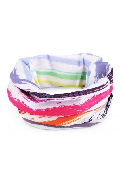 Multifunkční šátek pružný, bezešvý barevný L9810472