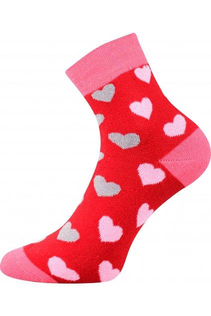 ponožky Pruhana 15 - srdíčka
