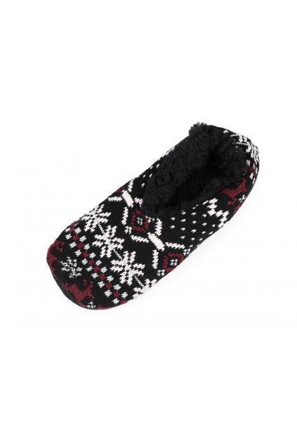 Pánská zimní domácí obuv s protiskluzem L9290638