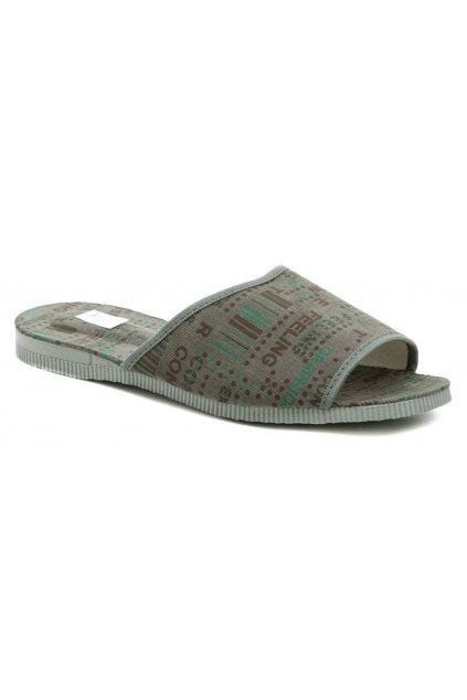 Pegres 3009 šedé pánské pantofle