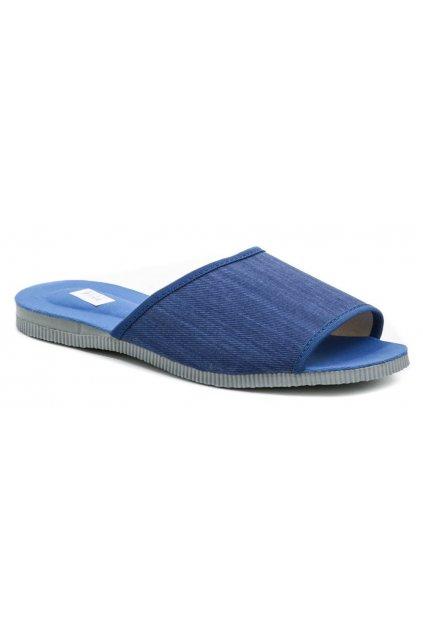 Pegres 3009 modré pánské pantofle