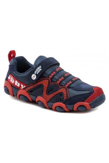Slobby 172-0013-S1 modro červené dětské tenisky