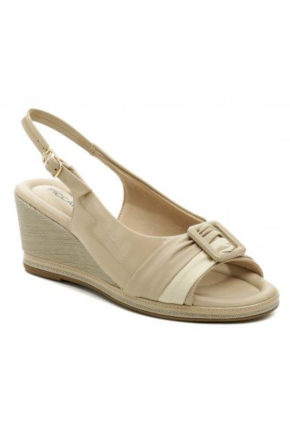 Piccadilly 408166-1 béžové dámské sandály na klínku