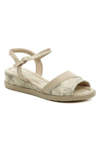Piccadilly 458013-7 béžové dámské sandály na klínku
