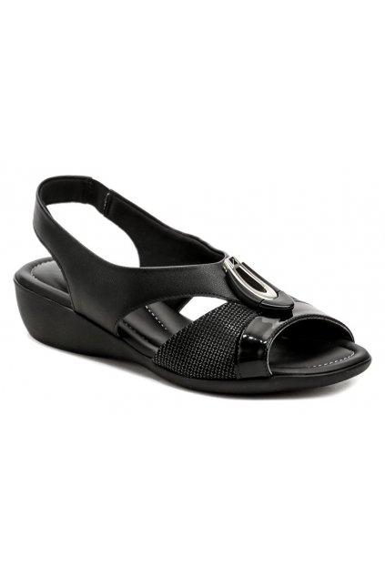 Piccadilly 416086-4 černé dámské sandály na klínku