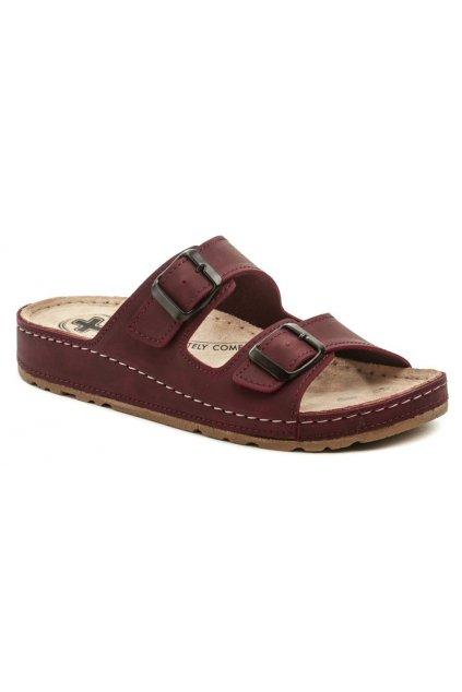Medi Line S182-002 bordó dámské zdravotní pantofle