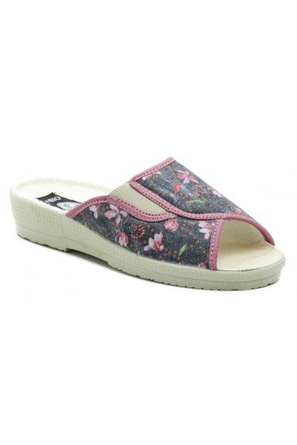 Rogallo 7101-018 šedo růžové dámské papuče