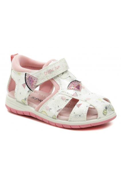 Sprox 524351 stříbrno růžové dívčí sandálky