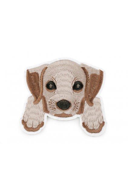 Nažehlovačka pes, celovyšívaná L9390984