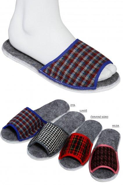 filcové šité papuče2