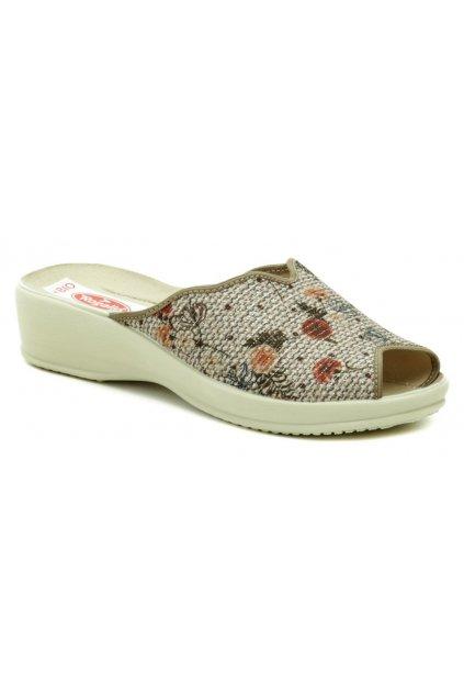 Rogallo 25977 béžové dámské papuče