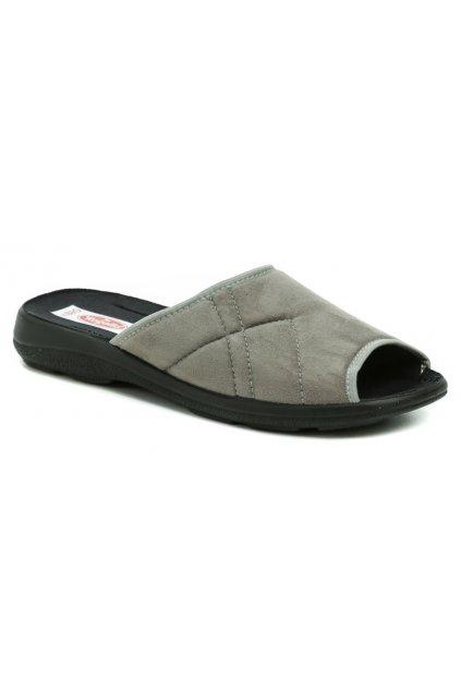 Rogallo 22507 šedé pánské papuče