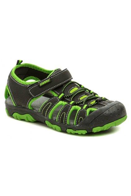 Slobby 152-0034-A1 černo zelené sandály