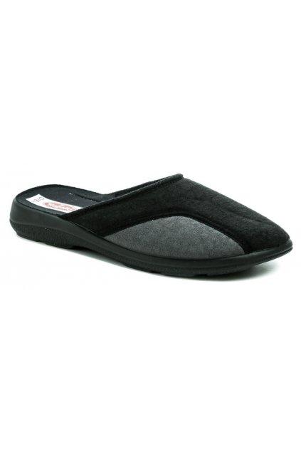 Rogallo 26239 černo šedé pánské papuče