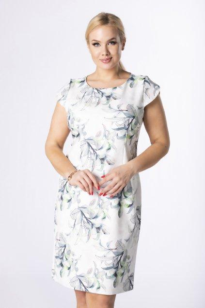 Klasické letní šaty s květinovým vzorem QMM84046
