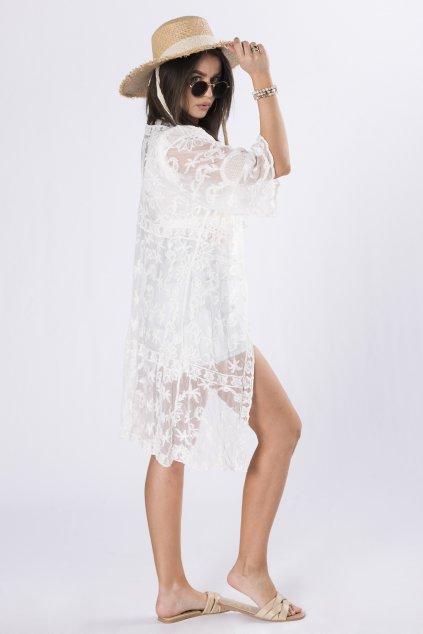 Letní krajkový kardigan ze 100% bavlny QOM84544