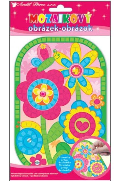 Mozaika květiny 21x14cm L10159