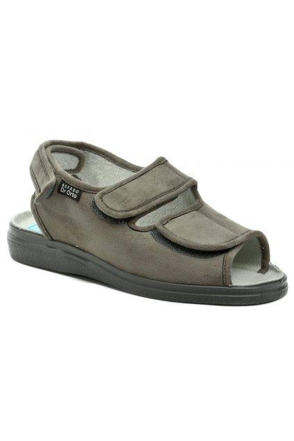 Dr. Orto 733M006 šedé pánské nadměrné zdravotní sandály