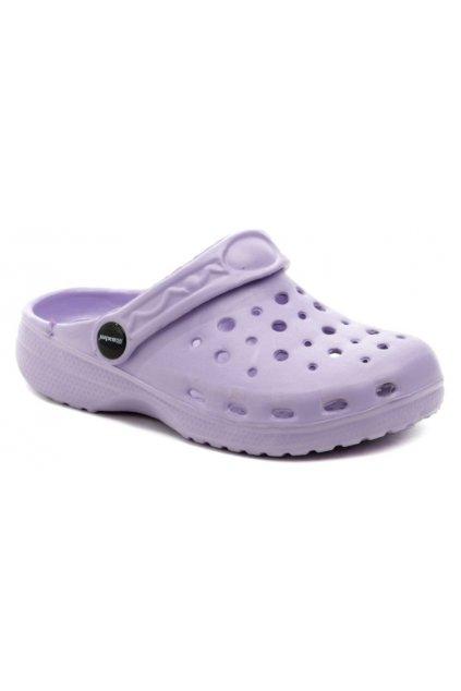 Axim 4K3804 fialové dětské nazouváky crocsy