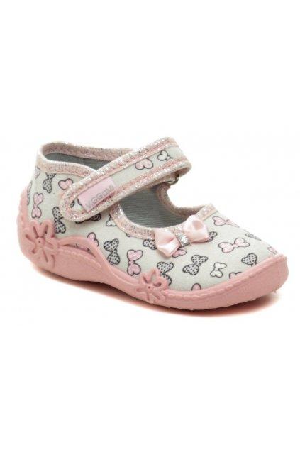 Vi-GGa-Mi růžové dětské plátěné sandálky TOSIA