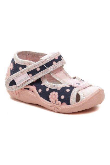 Vi-GGa-Mi růžové dětské plátěné sandálky MARYSIA