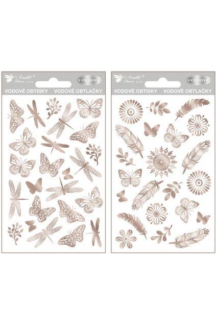Obtisky vodové ze stříbrné fólie 10x15 cm L9415