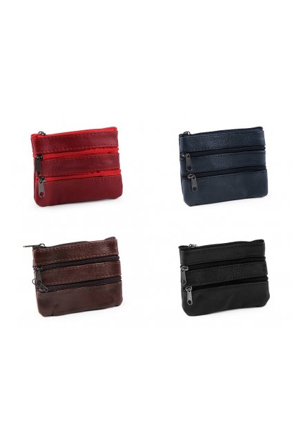 Klíčenka i peněženka malá, kožená 9x12 cm L9810876