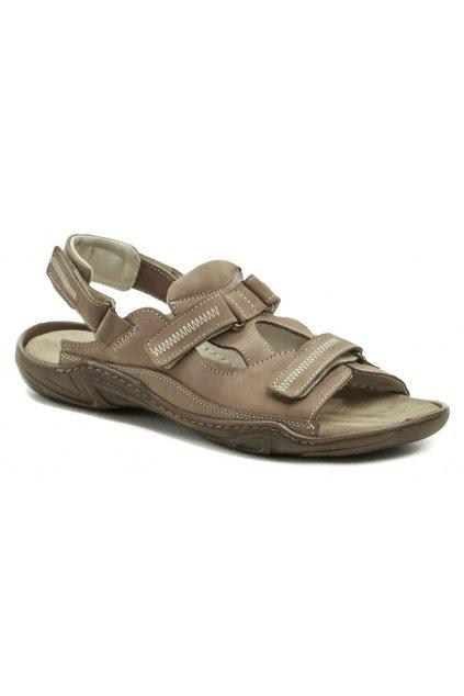 Koma 71 tmavě béžové pánské nadměrné sandály