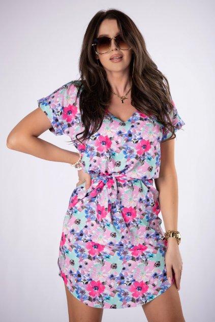 Letní vzorované šaty QLE84699