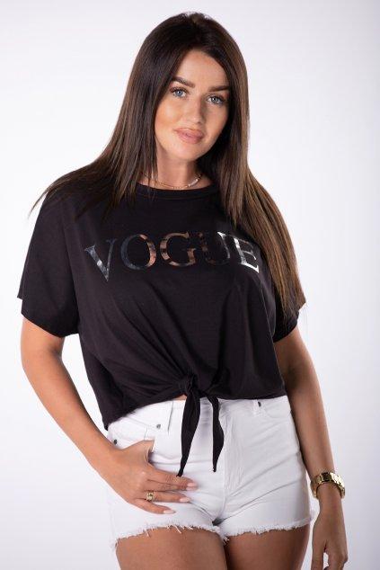 Bavlněné tričko s vázáním QOM85015