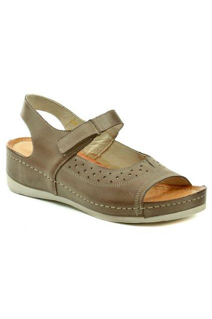 Wasak W469 hnědé dámské sandály na klínku