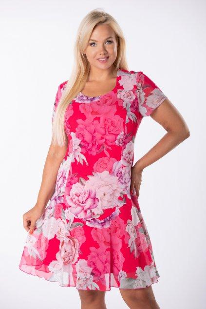 Šifonové šaty s volánem QMO84994