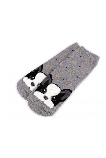 Dětské ponožky pes  šedá L9290719