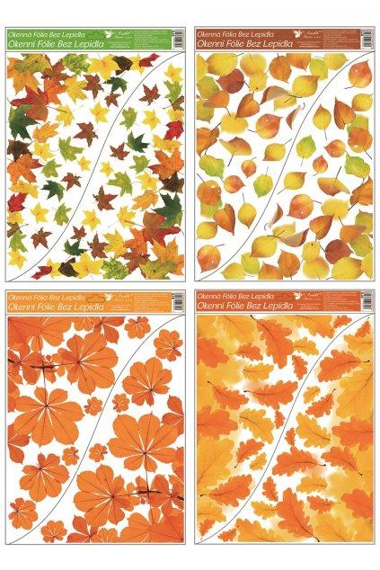 Okenní fólie rohová 42x30 cm, podzimní listí, L975
