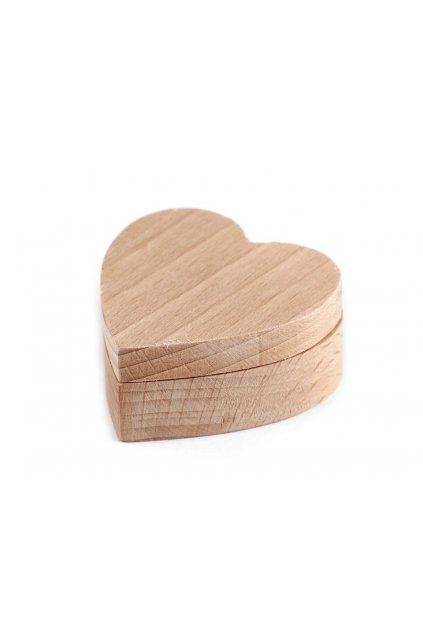Dřevěná krabička srdce k dozdobení L9840509