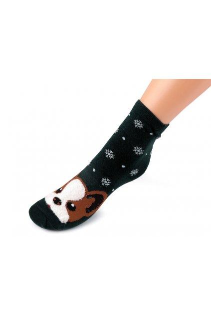 Dětské ponožky pes zelená tmavá L9290719