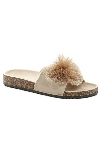 eVento 20SD10-1734 béžové dámské pantofle