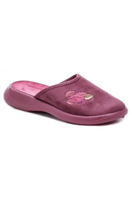 Befado 019D120 vínové dámské papuče
