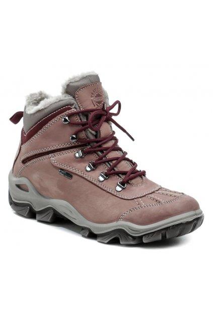 IMAC 808708 růžové dámské zimní boty