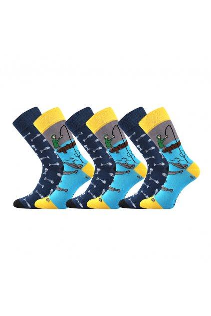 ponožky Doble Sólo - vzor 03 - rybář