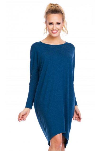 šaty daria angora modrá 1