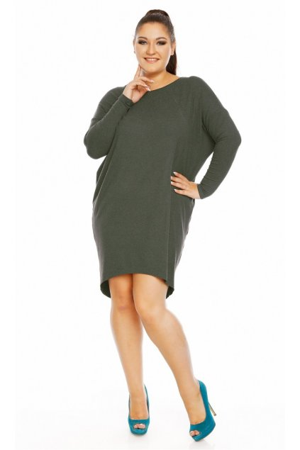 šaty daria angora lahvově zelená 1