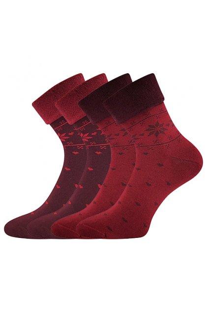 ponožky Frotana - red wine