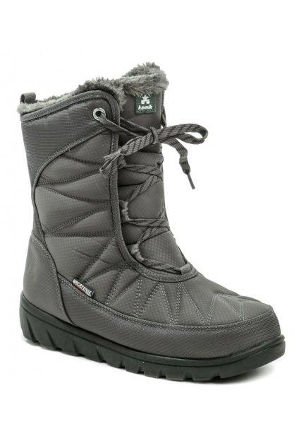 Kamik Hannah Mid W šedá dámská zimní obuv