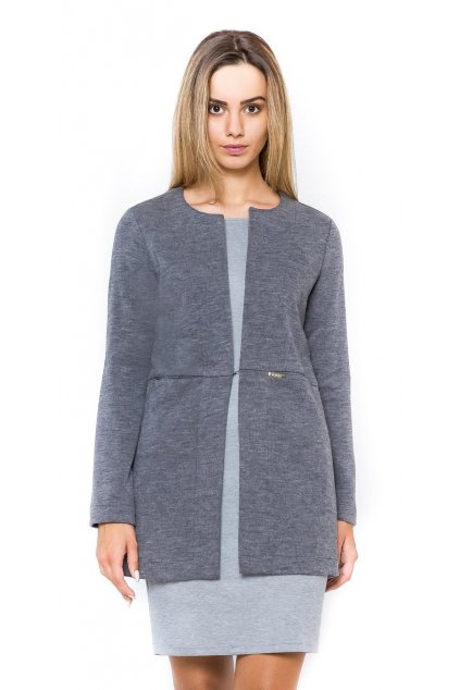 Kabátek tmavě šedý melír 3