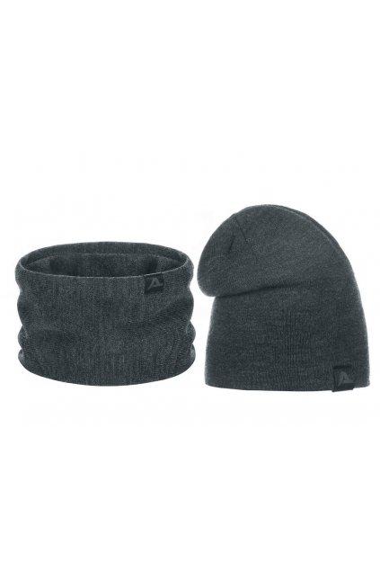 Dvojitá pánská zimní sada - čepice a nákrčník L9810419