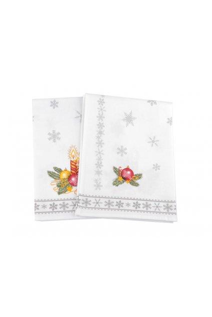 2 ks v sadě bavlněná utěrka vánoční 45 x 50 cm  L9810962