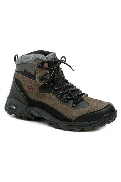 Lico Milan 220071 hnědé pánské nadměrné trekingové boty