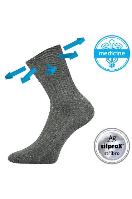ponožky Corsa Medicine VoXX - antracit melé