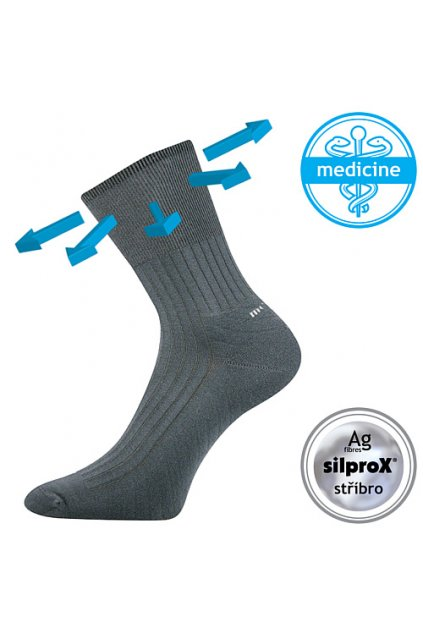 ponožky Corsa Medicine VoXX - tmavě šedá